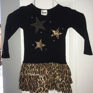 Leopard print star dress